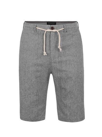 Pantaloni scurți gri Broadway Denil cu șnur în talie