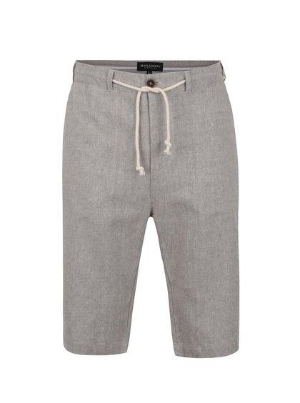 Pantaloni scurți maro Broadway Denil cu șnur în talie