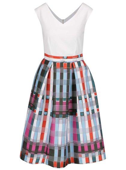 Rochie crem Closet cu imprimeu geometric stilizat
