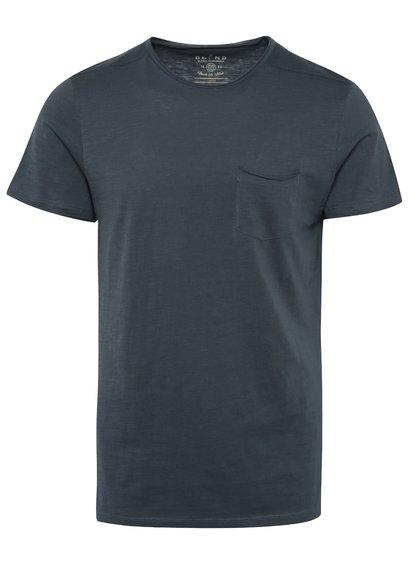 Tricou bleumarin Blend cu buzunar pe piept
