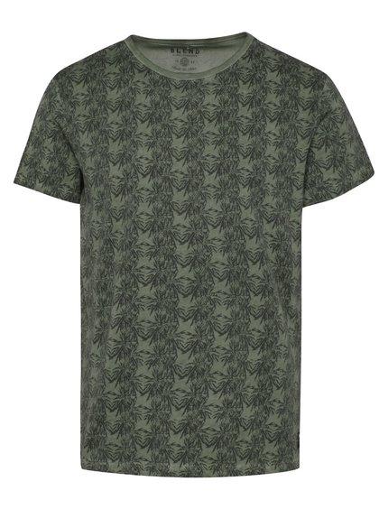 Tricou verde camuflaj  Blend cu imprimeu tropical