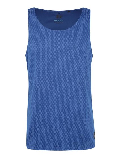 Top sport albastru Blend cu model honeycomb