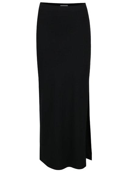 Černá maxi sukně sukně s rozparkem VILA Honesty