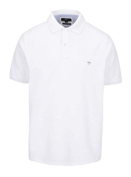 Tricou polo alb Fynch-Hatton din bumbac cu logo