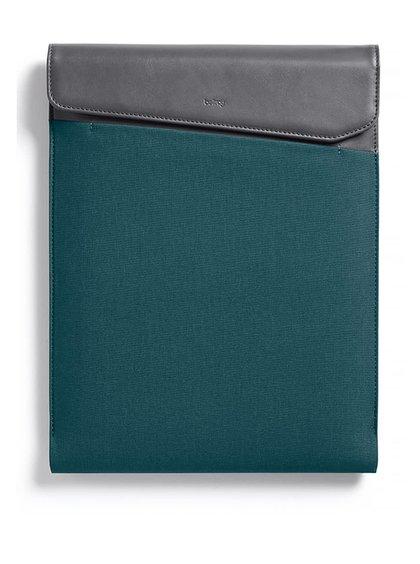 """Šedo-modrý obal na notebook s koženými detaily  Bellroy Laptop Sleeve Extra 15"""""""