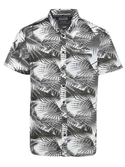 Cămașă crem&negru Blend cu mâneci scurte și imprimeu tropical