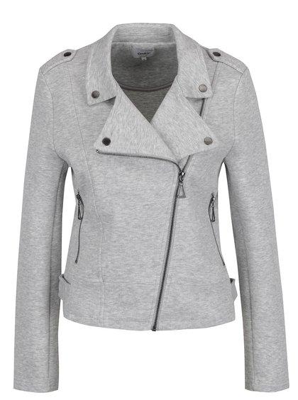 Jachetă gri deschis ONLY New cu revere
