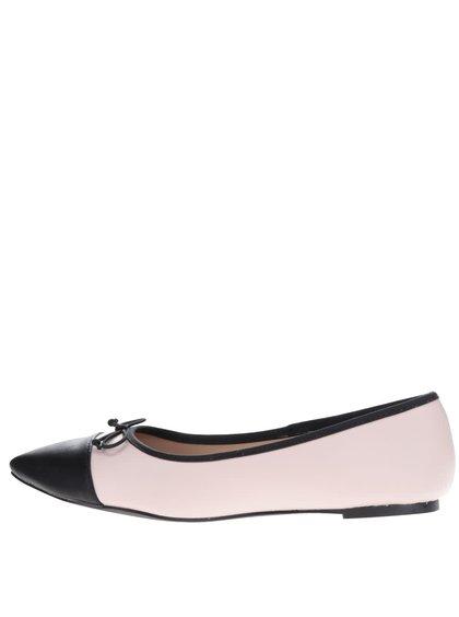 Balerini roz Dorothy Perkins cu detalii negre
