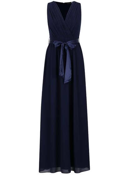 Tmavomodré dlhé šaty Dorothy Perkins