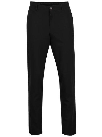Pantaloni negri Berton Beck cu croi drept