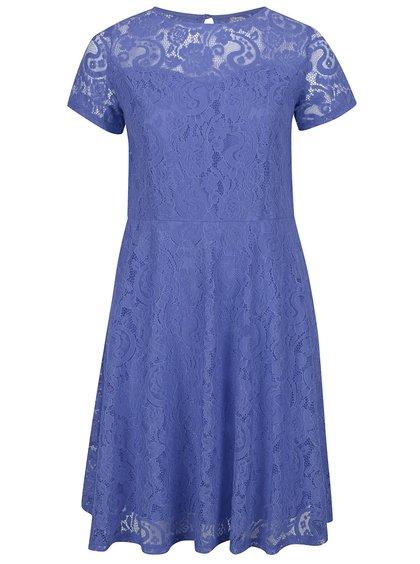 Modré krajkové šaty s krátkým rukávem Dorothy Perkins Curve