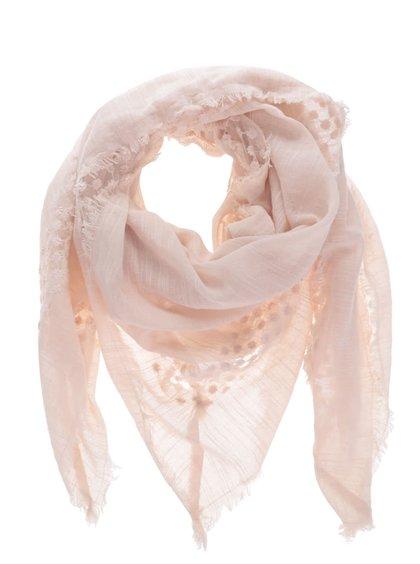 Růžový šátek Pieces Lira
