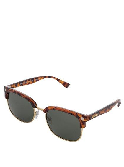 Hnědé vzorované unisex sluneční brýle CHPO Rumi