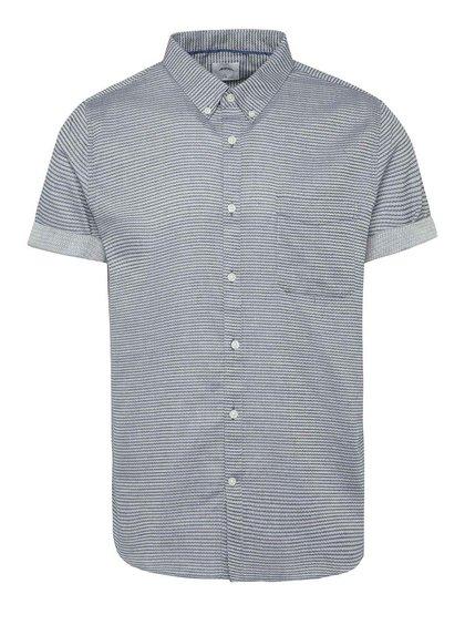 Cămașă albastră Burton Menswear London cu model în dungi