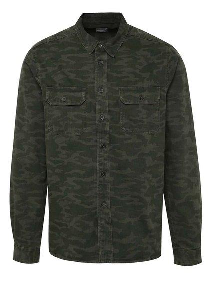 Cămașă verde Burton Menswear London cu model camuflaj