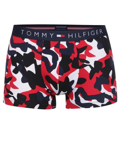Černo-červené maskáčové boxerky Tommy Hilfiger