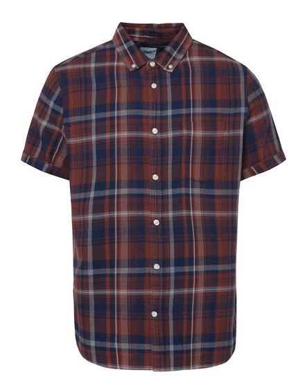 Hnědá kostkovaná košile Burton Menswear London