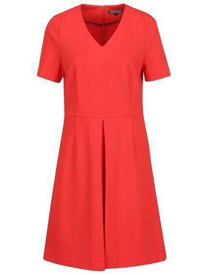 Červené šaty s krátkým rukávem Tommy Hilfiger