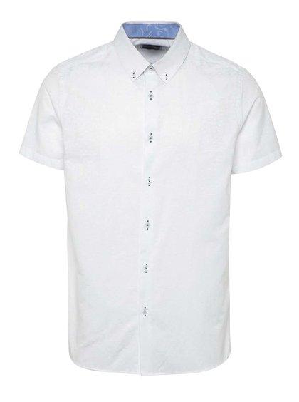Bílá vzorovaná košile s krátkým rukávem Burton Menswear London