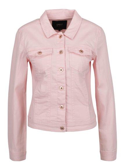 Růžová džínová bunda s kapsami ONLY Westa