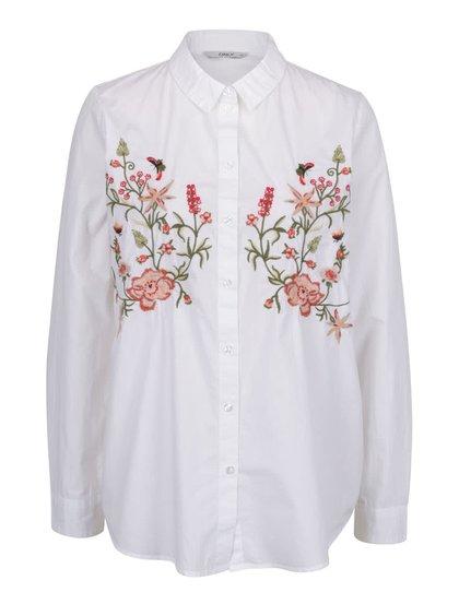 Bílá košile s výšivkami ONLY Doris