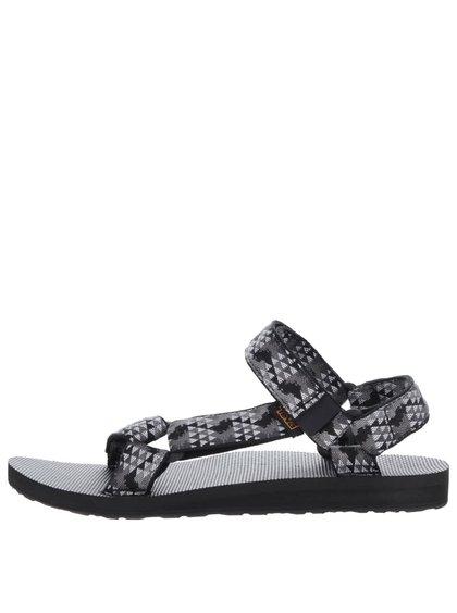 Šedo-černé vzorované pánské sandály Teva