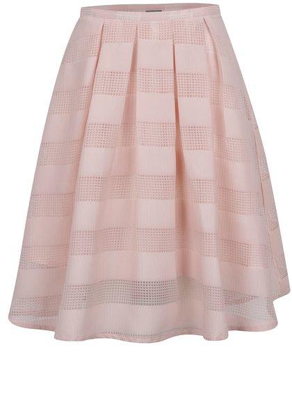 Růžová pruhovaná sukně VERO MODA Green
