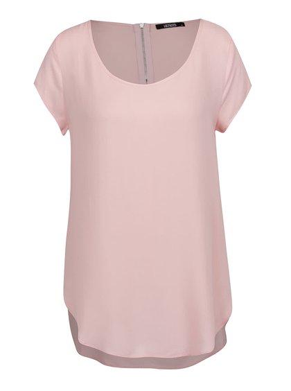 Světle růžový volný top s krátkým rukávem Haily´s Liane