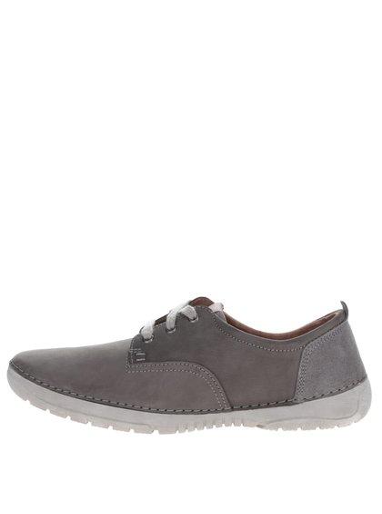 Pantofi casual gri din piele Weinbrenner pentru bărbați