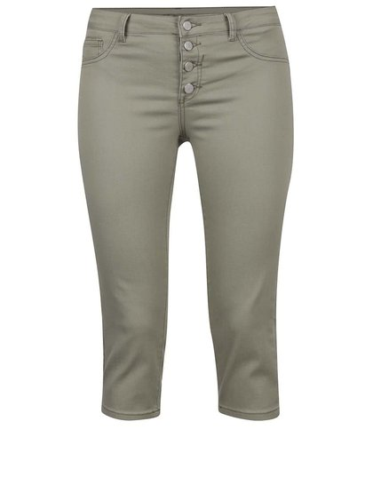 Khaki 3/4 kalhoty VILA Commit