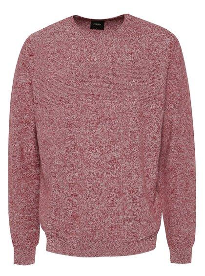 Vínový žíhaný svetr Burton Menswear London
