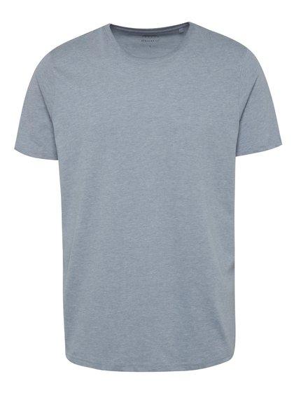 Světle modré basic triko s krátkým rukávem Burton Menswear London