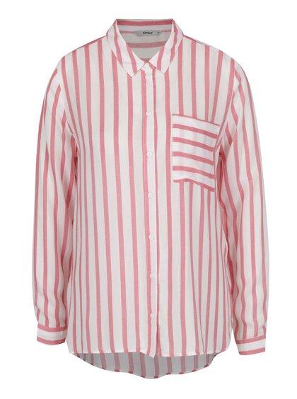 Červeno-krémová pruhovaná košile ONLY Candy