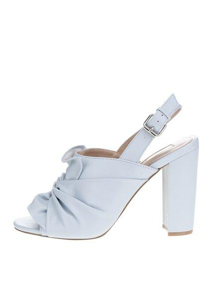 Modré sandálky na podpatku Miss Selfridge