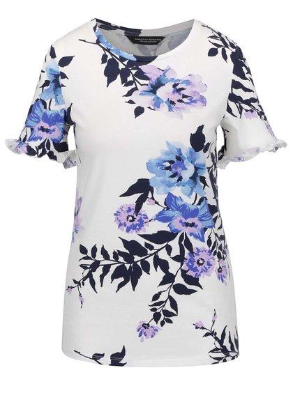 Modré květované tričko Dorothy Perkins