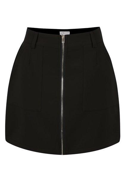 Černá pouzdrová sukně se zipem Apricot