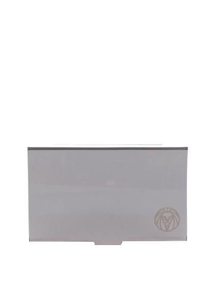 Pánské ocelové pouzdro na karty ve stříbrné barvě Lucleon