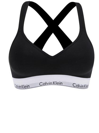 Černá sportovní podprsenka s bílým lemem Calvin Klein