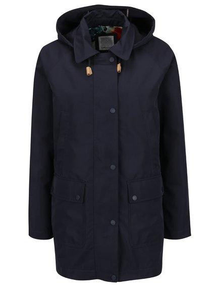 Tmavě modrá dámská bunda s kapucí a kapsami Geox