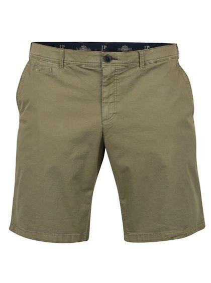 Pantaloni chino scurți kaki JP 1880 cu talie elastică