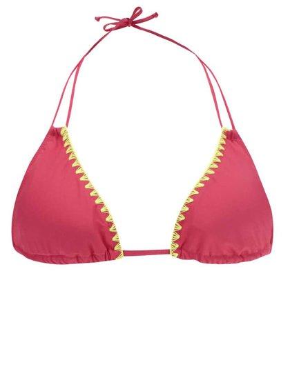 Neonově růžový horní díl plavek s výšivkami Dorothy Perkins