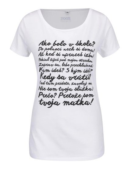 Bílé dámské tričko ZOOT Originál Hlášky