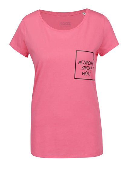 Růžové dámské tričko ZOOT Originál Nezapomeň zavolat mámě!