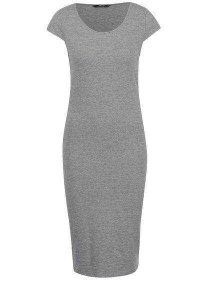 Šedé lehké pouzdrové šaty ONLY Mallika