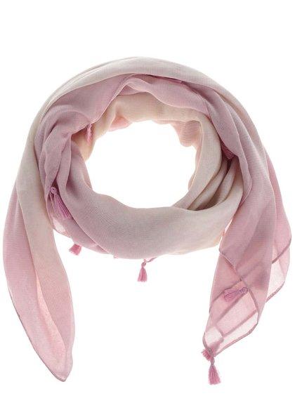 Růžový šátek se střapci Pieces Submarine
