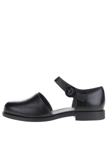 Černé dámské kožené sandály s plnou špičkou Camper