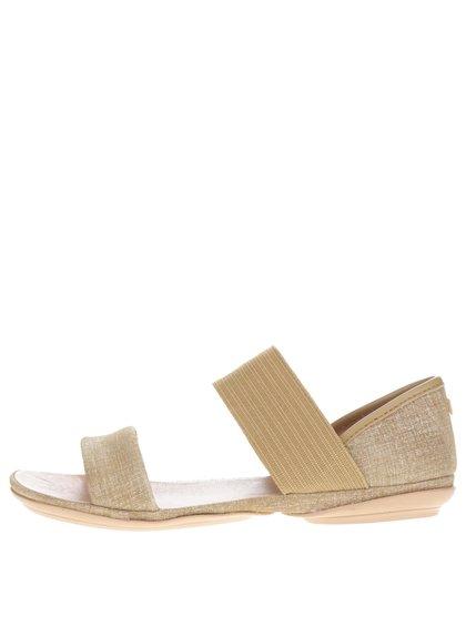 Béžové dámské kožené sandály Camper