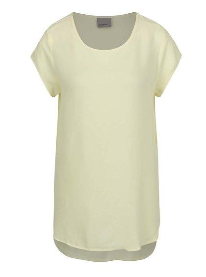 Bluză galben deschis VERO MODA Boca cu croi lejer și tiv asimetric