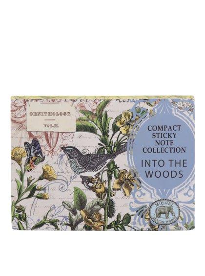 Malý set poznámkových a lepících papírků s motivem lesa Michel Design Works