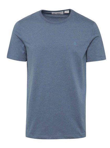 Tricou albastru închis Original Penguin Peached Jersey cu logo